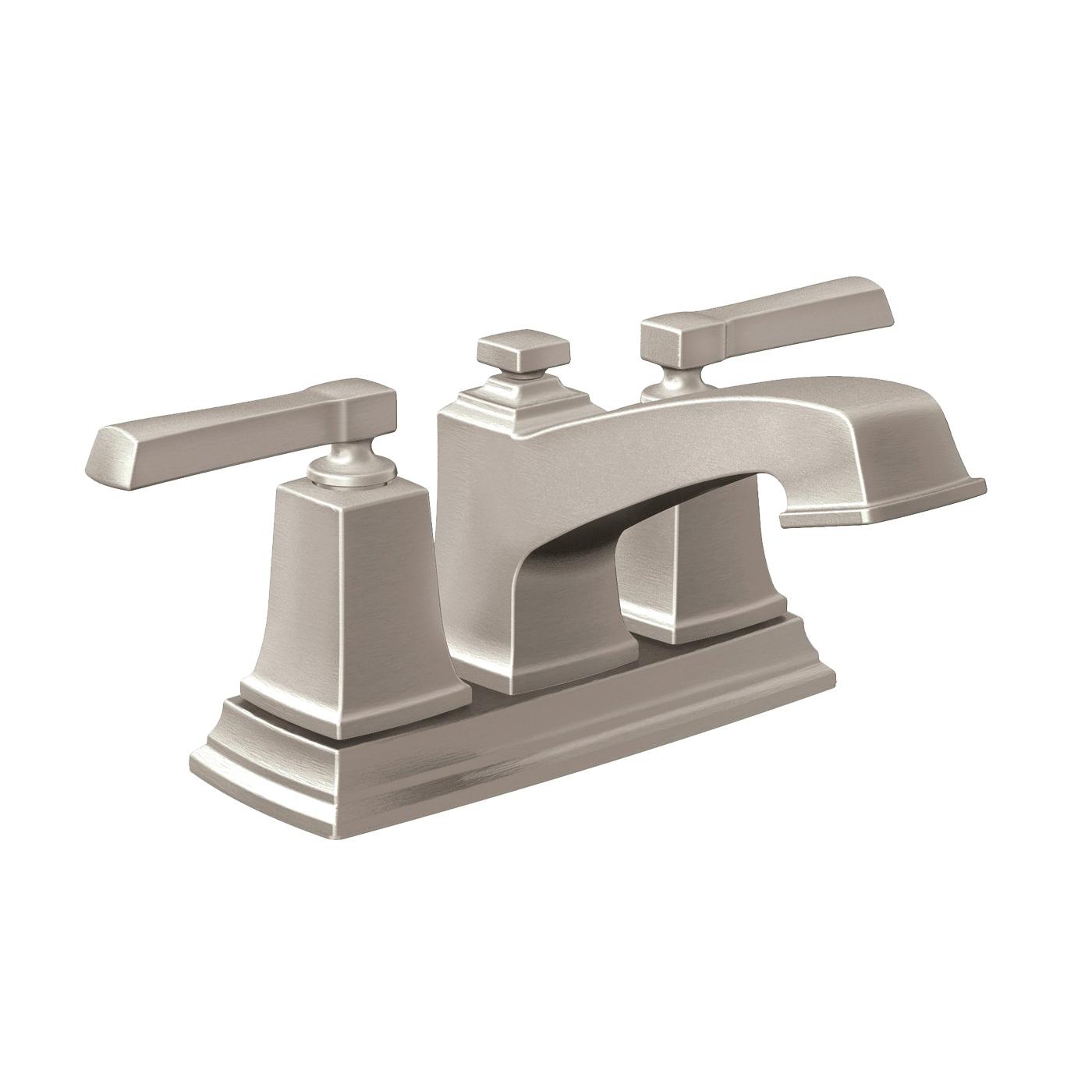 Picture of Moen Boardwalk WS84800SRN Bathroom Faucet, 1.2 gpm, 2-Faucet Handle, Metal, Brushed Nickel, Lever Handle