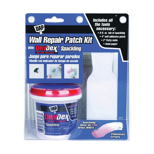 Picture of DAP 12345 Wall Repair Patch Kit White, White, 0.5 pt