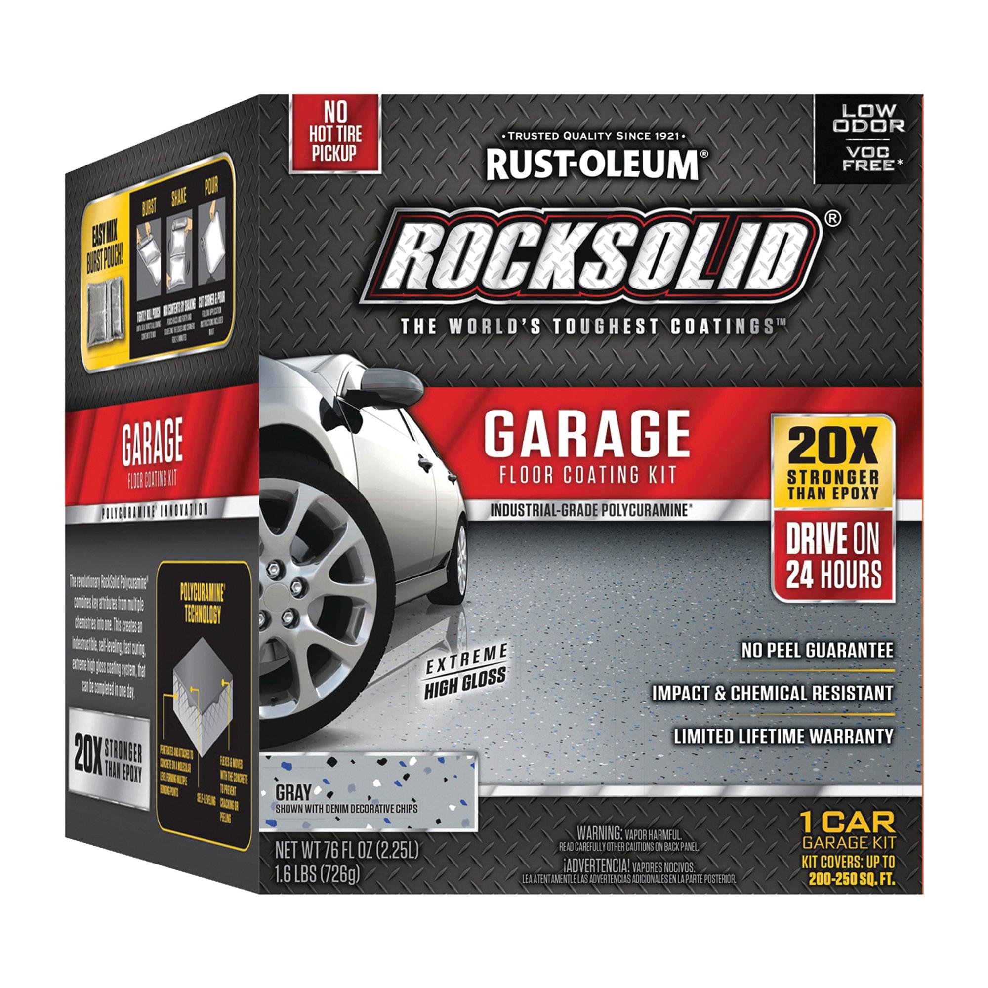 Picture of RUST-OLEUM ROCKSOLID 60003 Floor Coating Kit, High-Gloss, Gray, Liquid, 76 oz