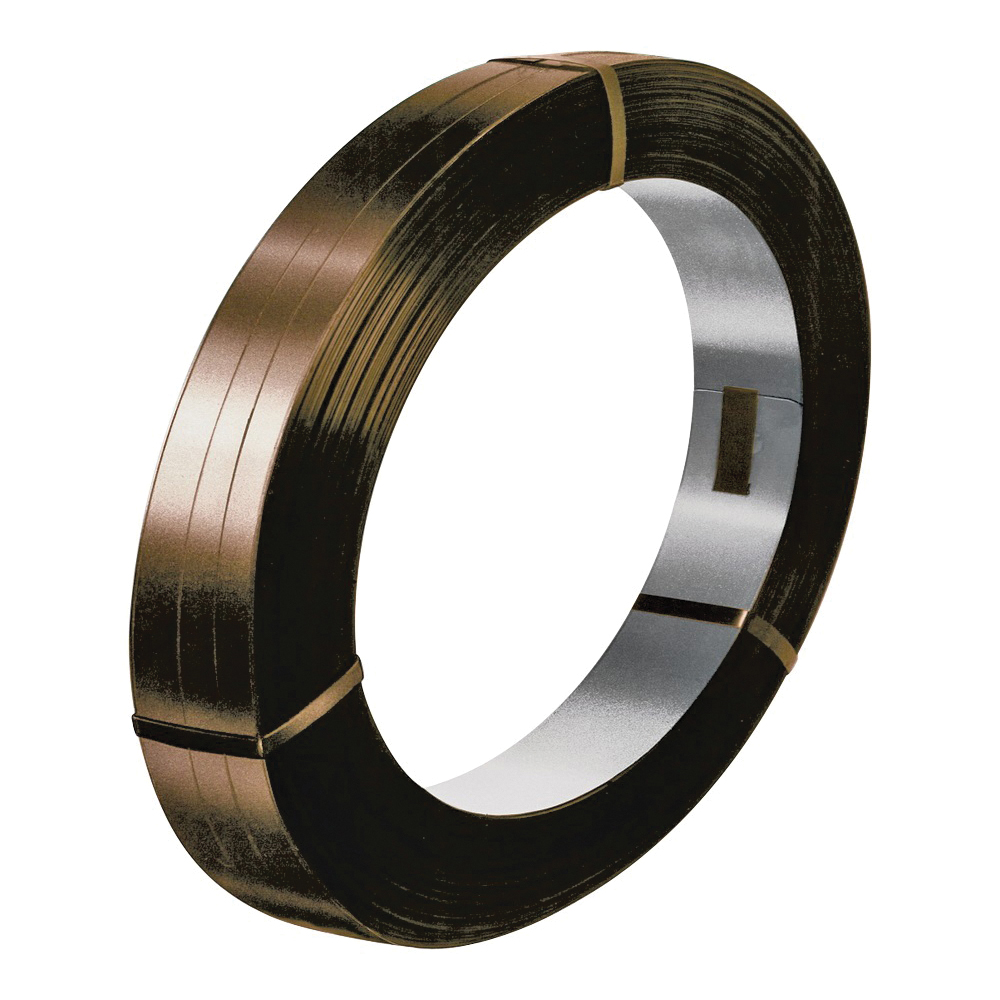 Picture of TransTech Signode SSM85207 Regular-Duty Strapping Coil, 1710 ft L, 3/4 in W, 0.023 Thick Material, Steel, Brown