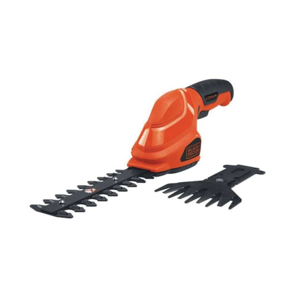 Picture of Black+Decker GSL35 Garden Shear/Shrubber Combo, 1 in Cutting Capacity, Steel Blade, Soft-Grip Handle