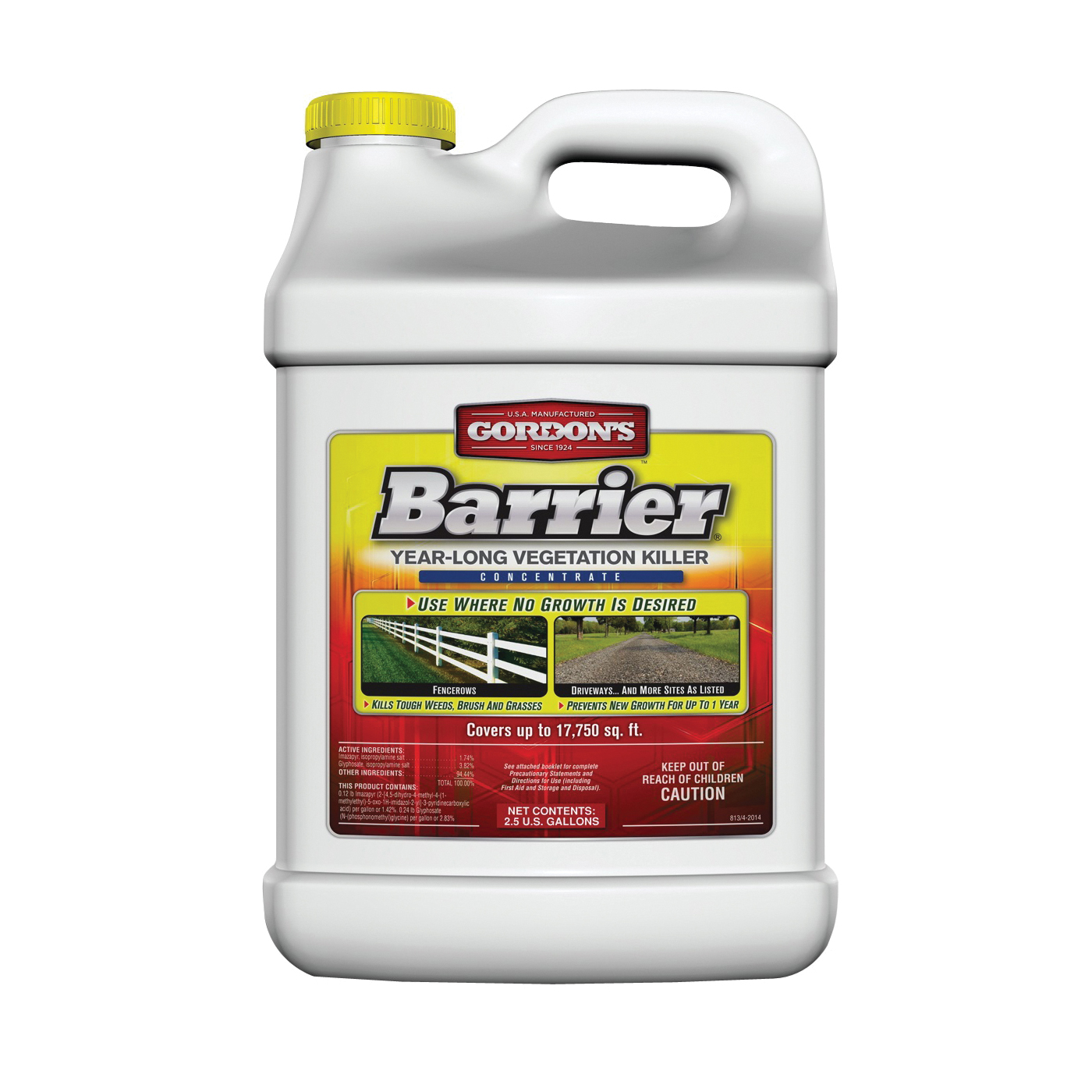 Picture of Gordon's Barrier 8131122 Vegetation Killer, Liquid, Light Yellow, 2.5 gal Package
