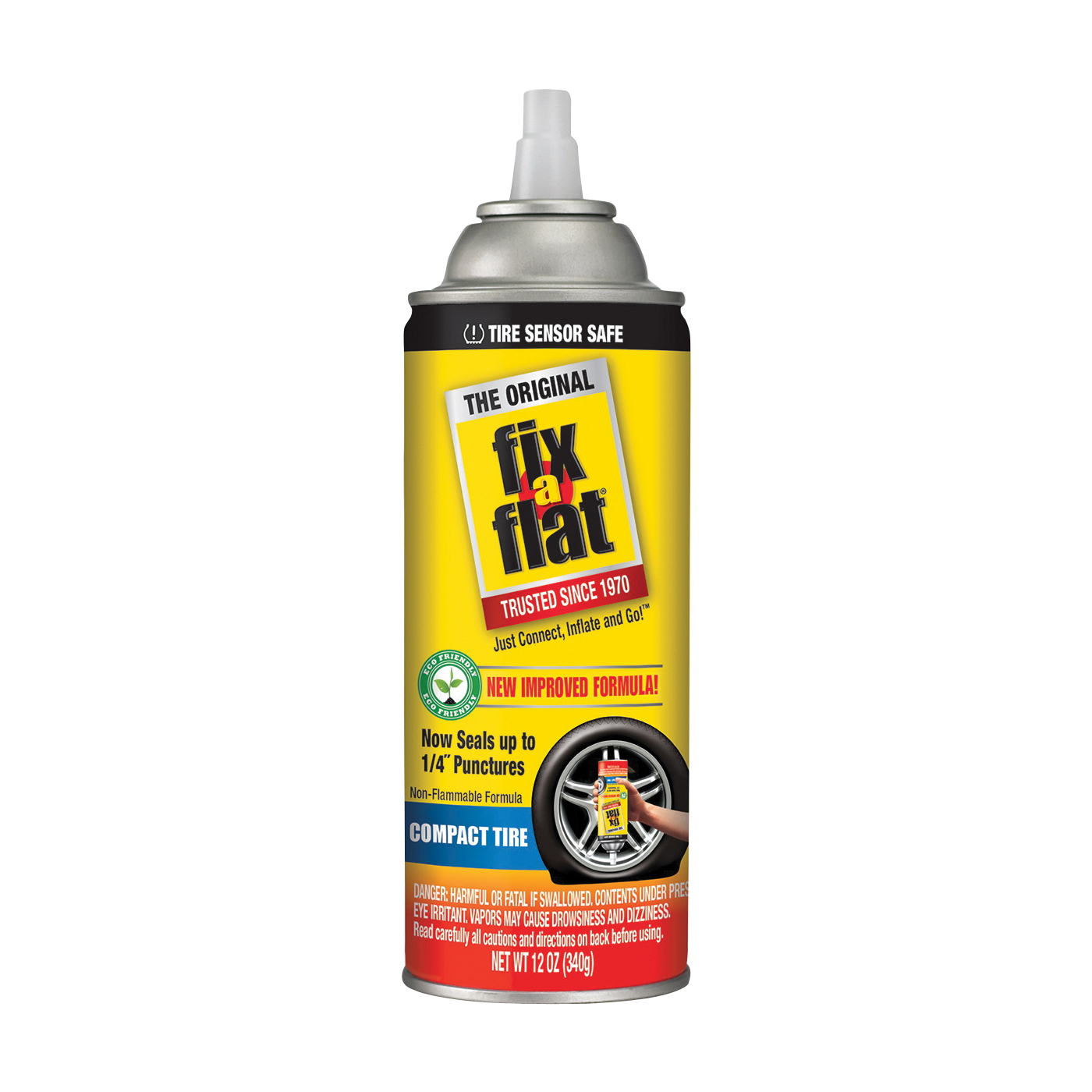 Picture of Fix-A-Flat S60410 Tire Repair Inflator, 12 oz Package, Can, Characteristic