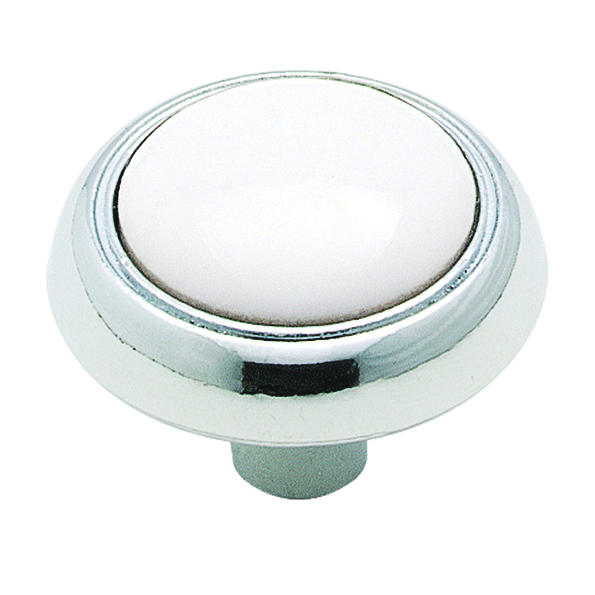 Picture of Amerock 262WCH Cabinet Knob, 15/16 in Projection, Ceramic/Zinc, Polished Chrome