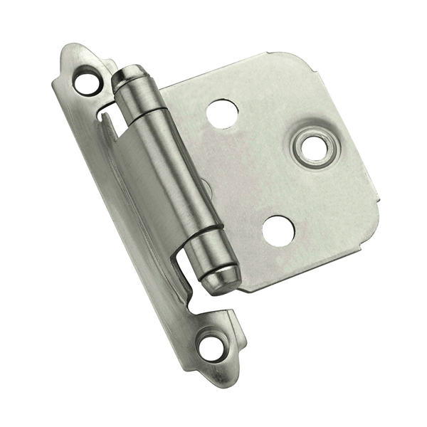 Picture of Amerock 1887612 Cabinet Hinge, 3/8 in Inset, Satin Nickel