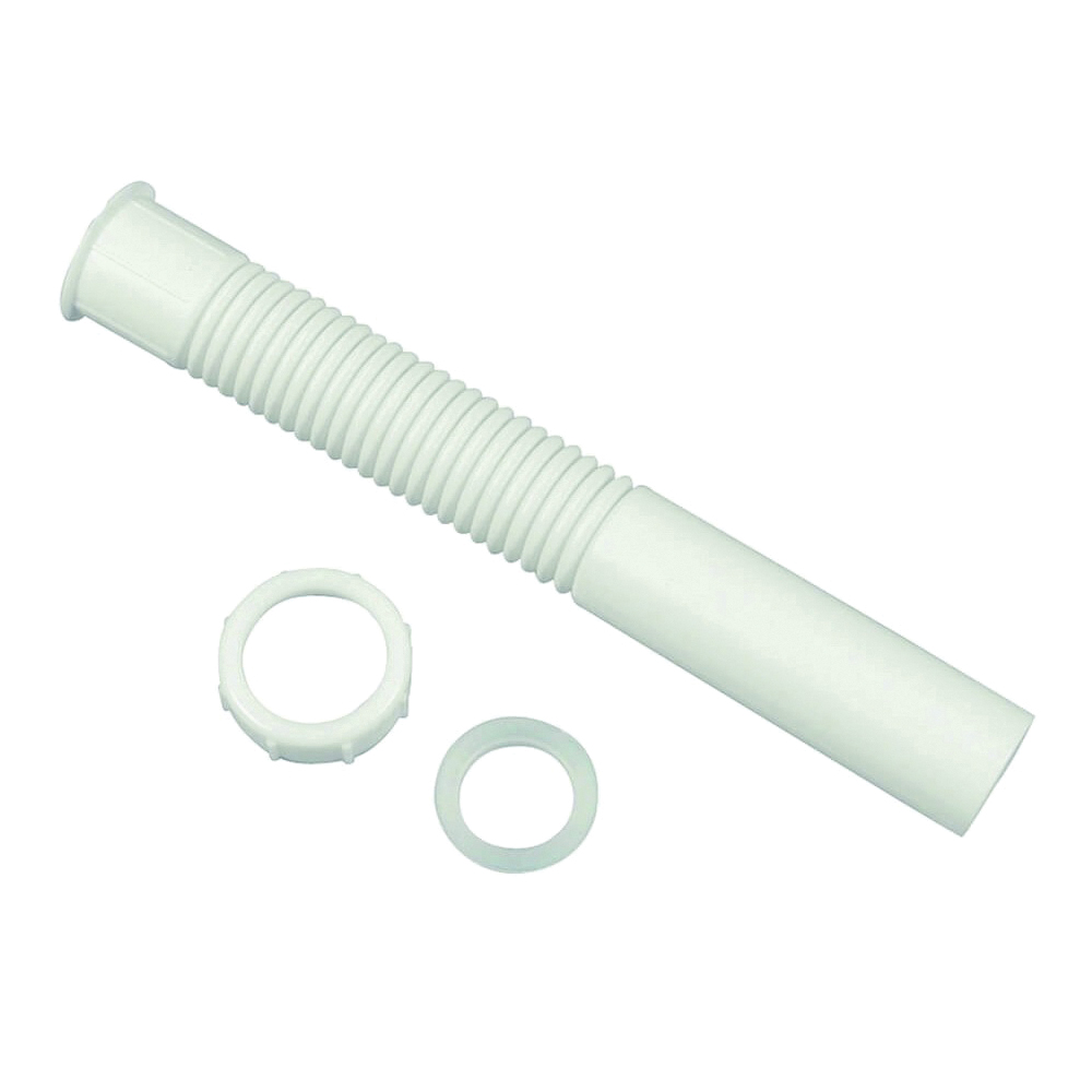 Picture of Danco 51068 Tailpiece Extension, 1-1/2 x 12 in, Slip-Joint, White