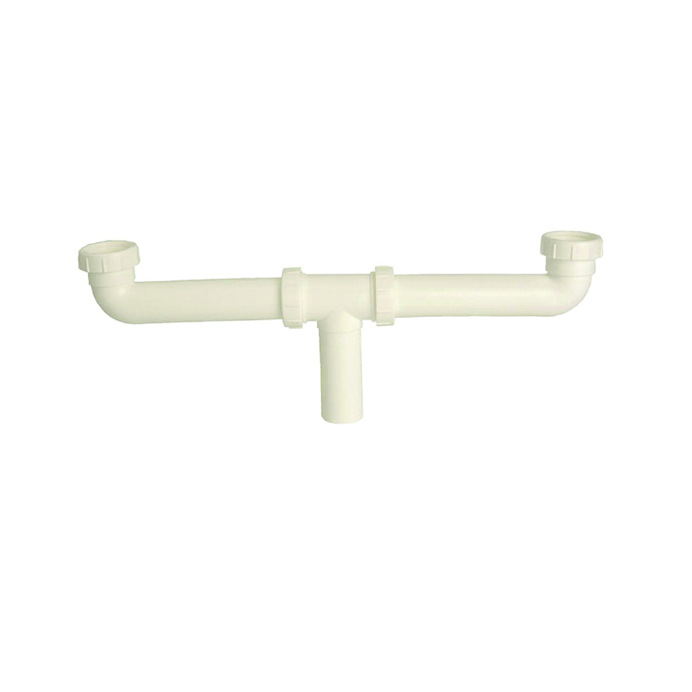 Picture of Danco 50974 Center Outlet Waste Drain Pipe, 1-1/2 in, Slip Joint, Plastic, White