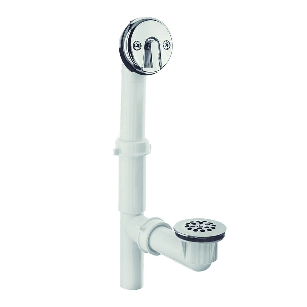 Picture of Danco 51932 Tub Drain Kit, Plastic, White, Chrome, For: Standard Size Tubs