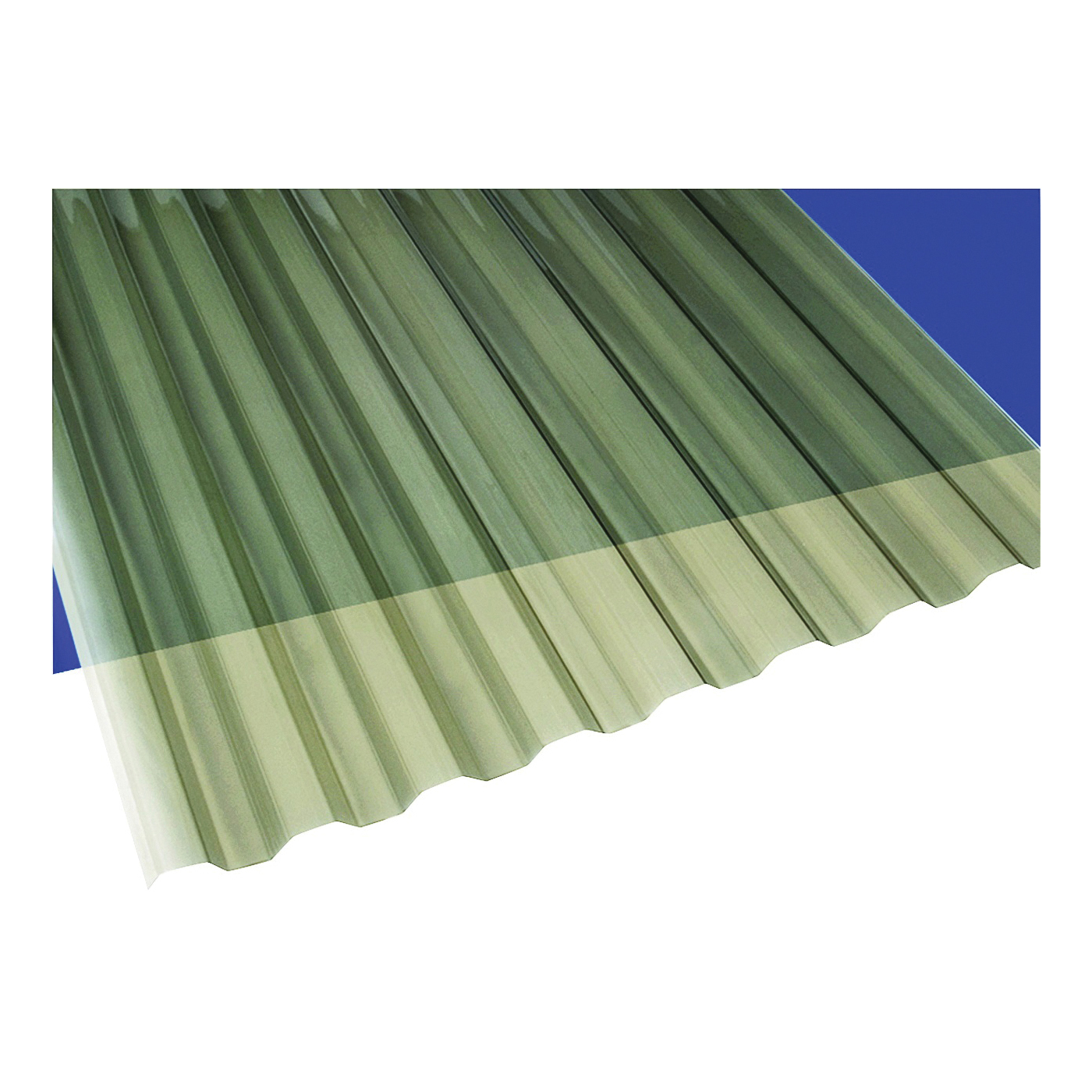Picture of Suntuf 101929 Corrugated Panel, 8 ft L, 26 in W, Greca 76 Profile, 0.032 Thick Material, Polycarbonate, Solar Gray