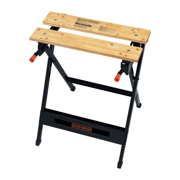 Picture of Black+Decker WM125 Portable Project Center and Vise, 29-3/4 in OAH, 350 lb Capacity, Black, Wood Tabletop