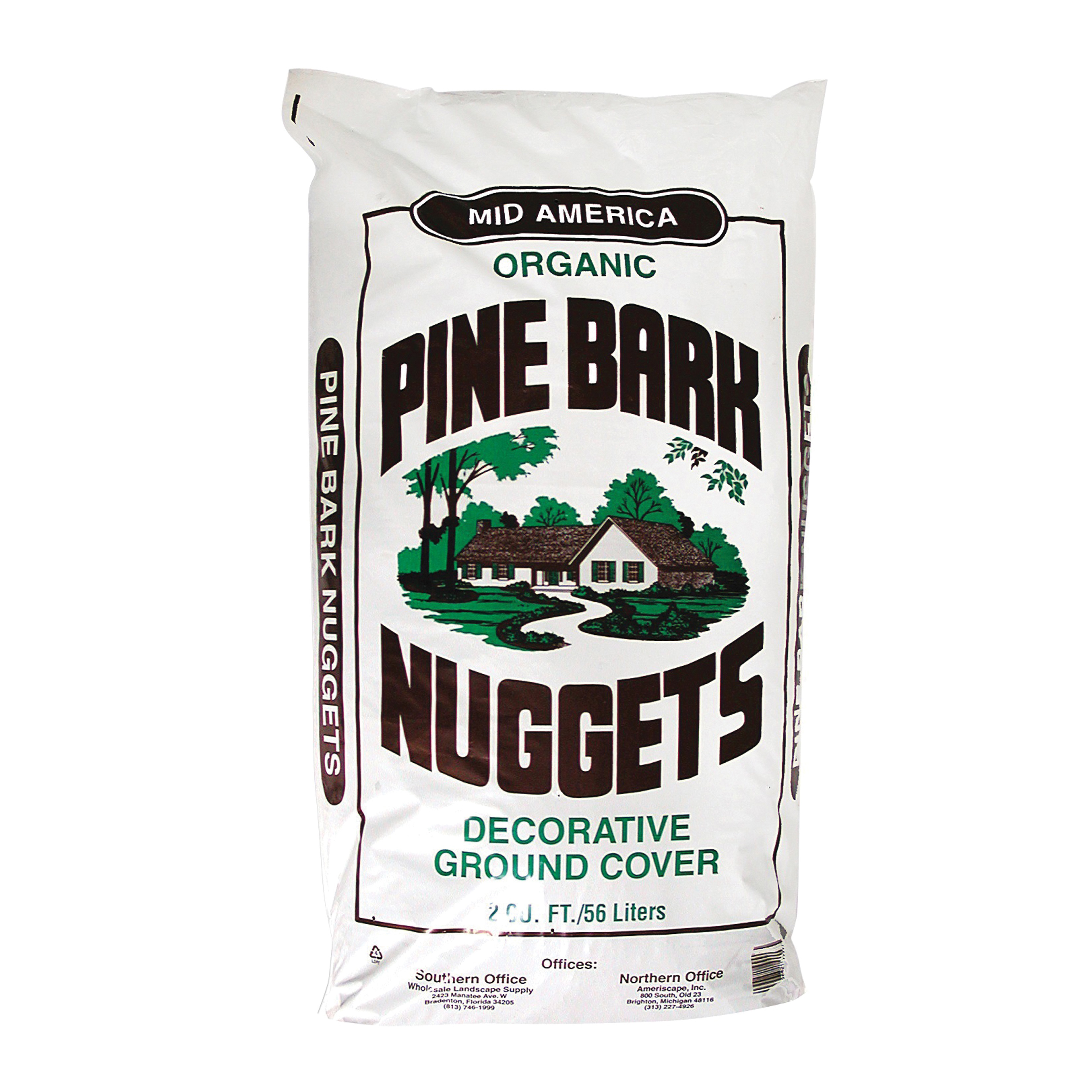 Picture of Mid-America 99997 Nuggets Pine Bark Mulch, 2 cu-ft Package, Bag