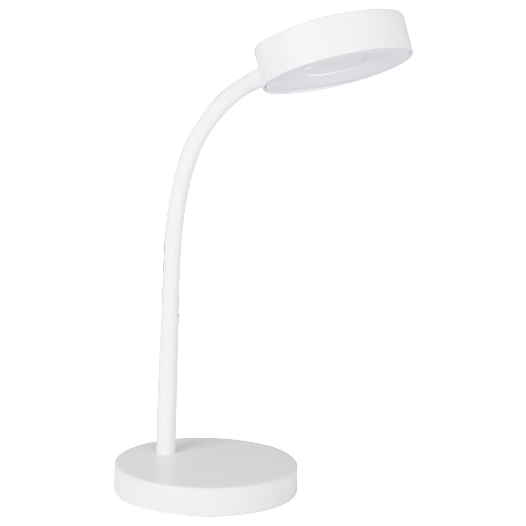 Picture of Boston Harbor EWDEL001 LED Flexible Desk Lamp, 0.05 Amp, 120 V, 7 W, 1-Lamp, LED Lamp, 400 Lumens, White