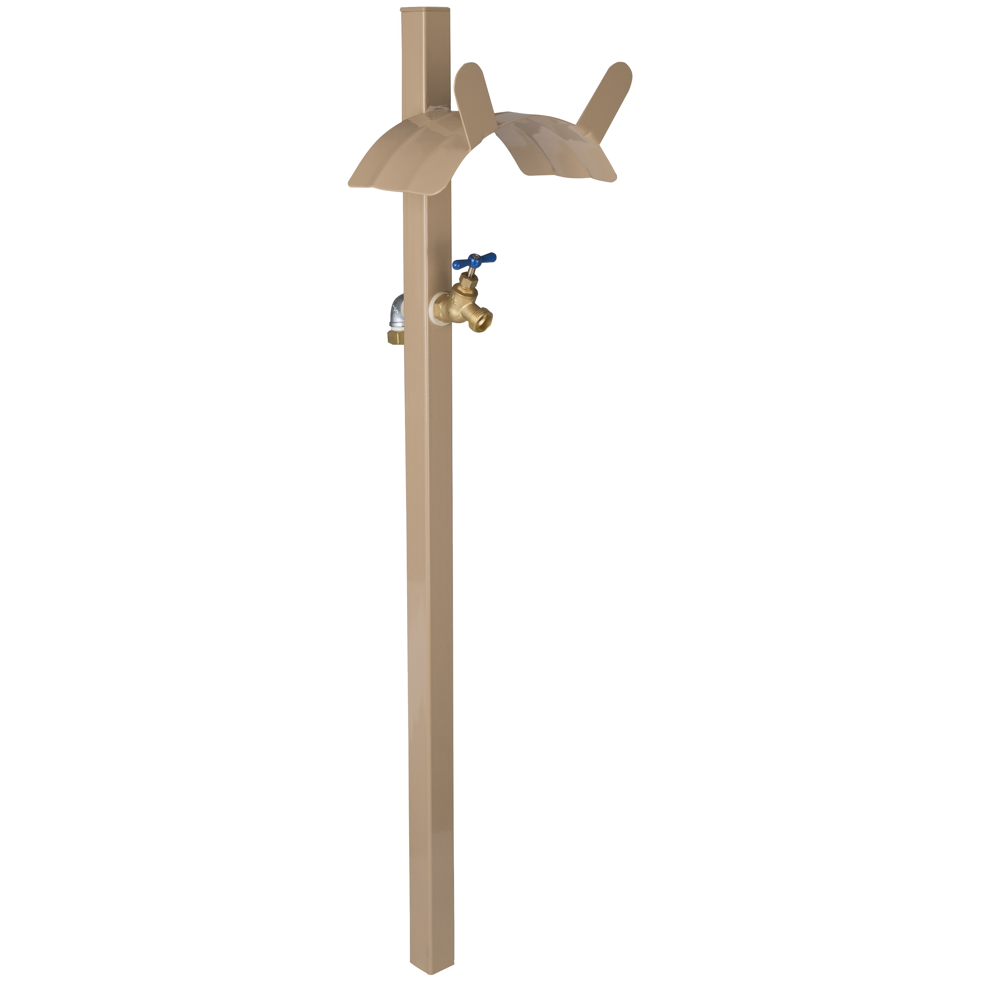 Picture of Landscapers Select HH-693 Hose Stand, 150 ft Capacity, Steel, Tan, Powder-Coated, Stake Mounting