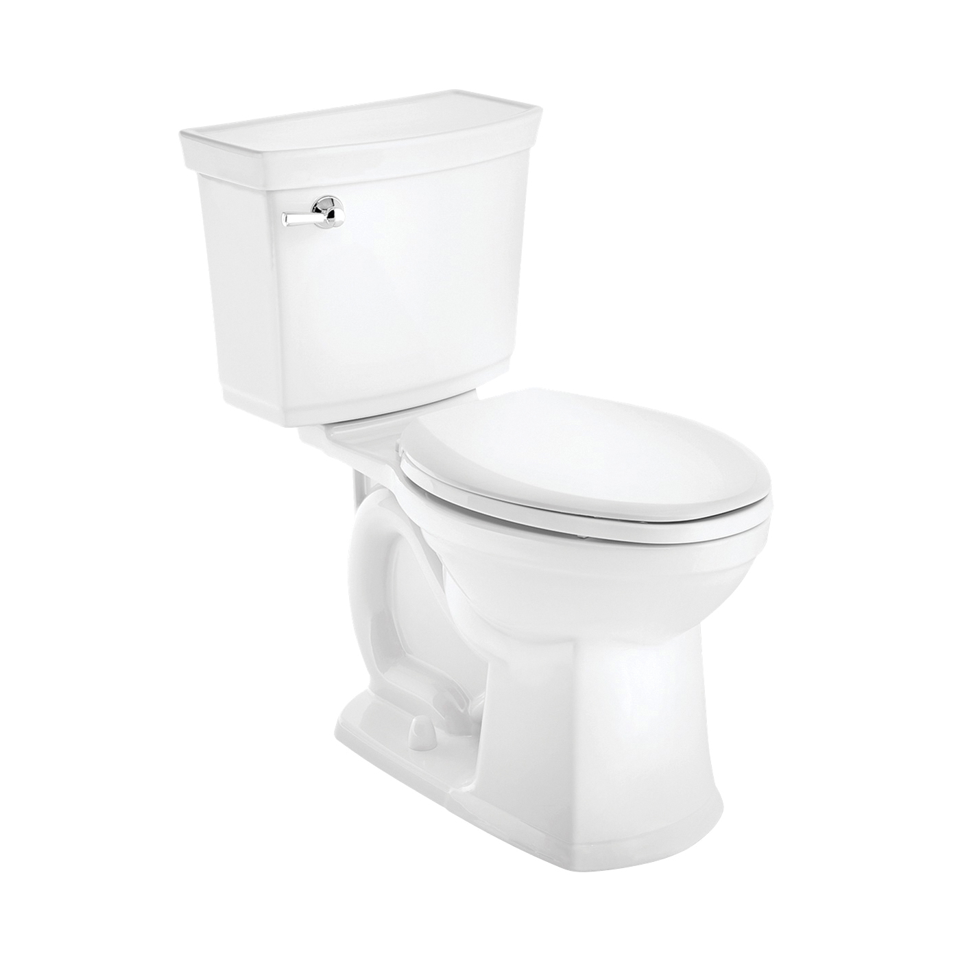 Picture of American Standard VorMax Series 727AA121.020 Complete Toilet, Elongated Bowl, 1.28 gpf Flush, 12 in Rough-In, White
