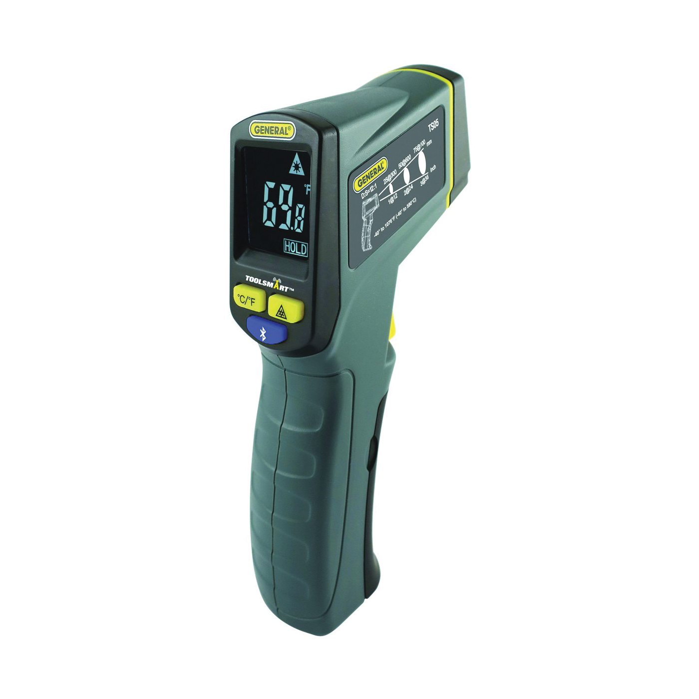 Picture of GENERAL ToolSmart TS05 Infrared Thermometer Kit, -40 to 1076 deg F, 1 deg Resolution