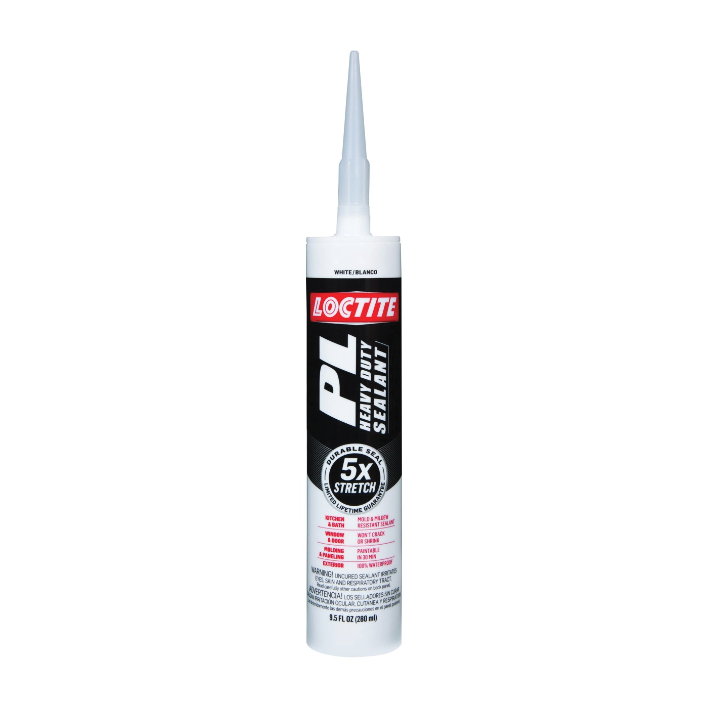 Picture of Loctite 2141743 Sealant, Tan/White, 24 to 72 hr Curing, 0 to 140 deg F, 9.5 oz Package, Cartridge