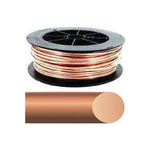 Picture of Southwire 4SOLX200BARE Electrical Wire, Solid, 4 AWG Wire, Copper Conductor, 200 ft L