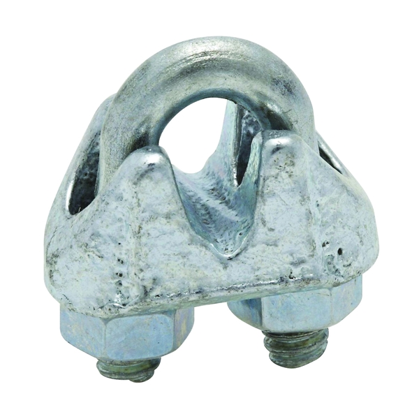 Picture of National Hardware 3230BC Series N248-278 Wire Cable Clamp, 1/8 in Dia Cable, 3 in L, Malleable Iron, Zinc
