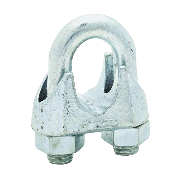 Picture of National Hardware 3230BC Series N248-344 Wire Cable Clamp, 3/4 in Dia Cable, 1 in L, Malleable Iron, Zinc