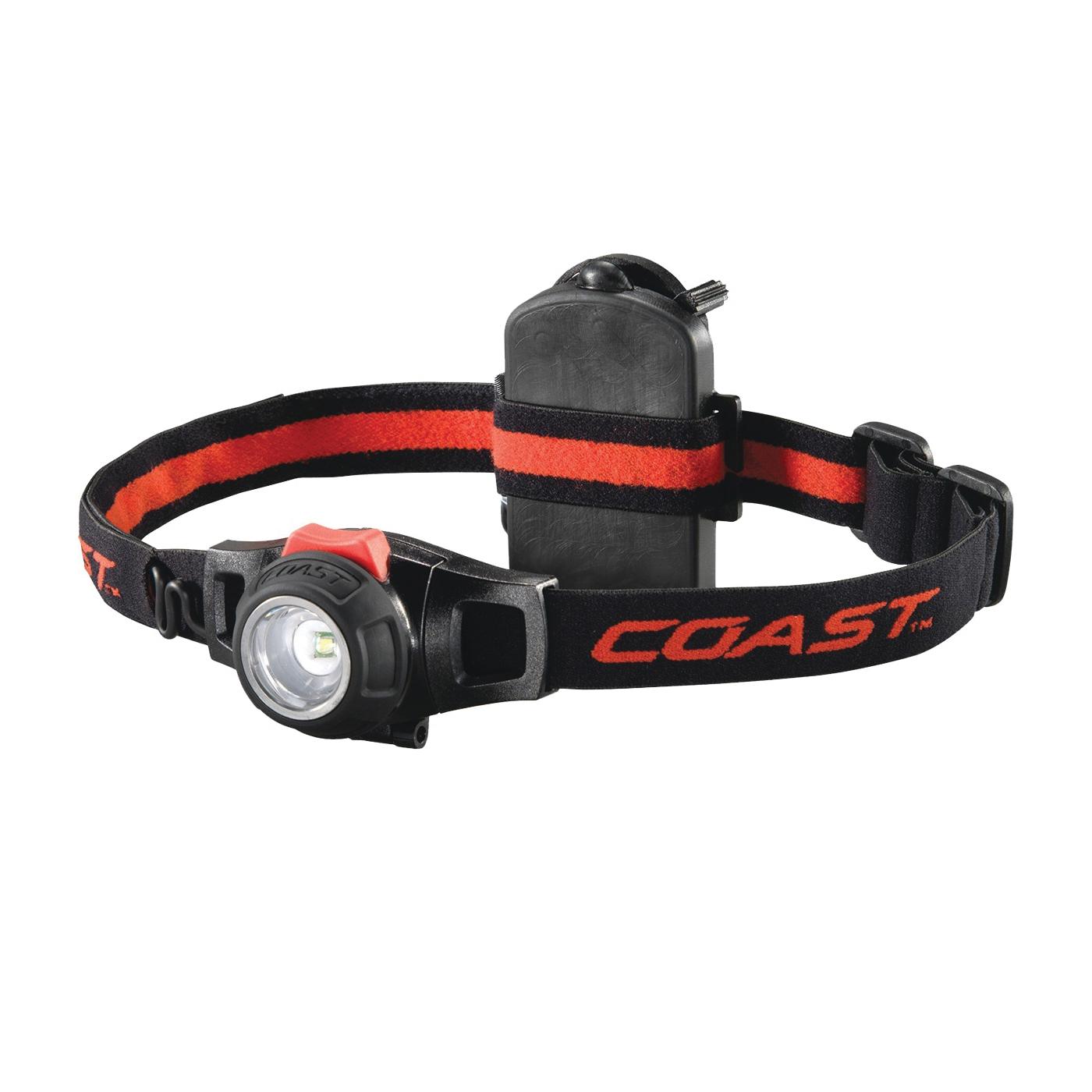 Picture of Coast 19284 Adjustable Headlamp, AAA Battery, LED Lamp, 305 Lumens, Bulls-Eye Spot Beam, Black