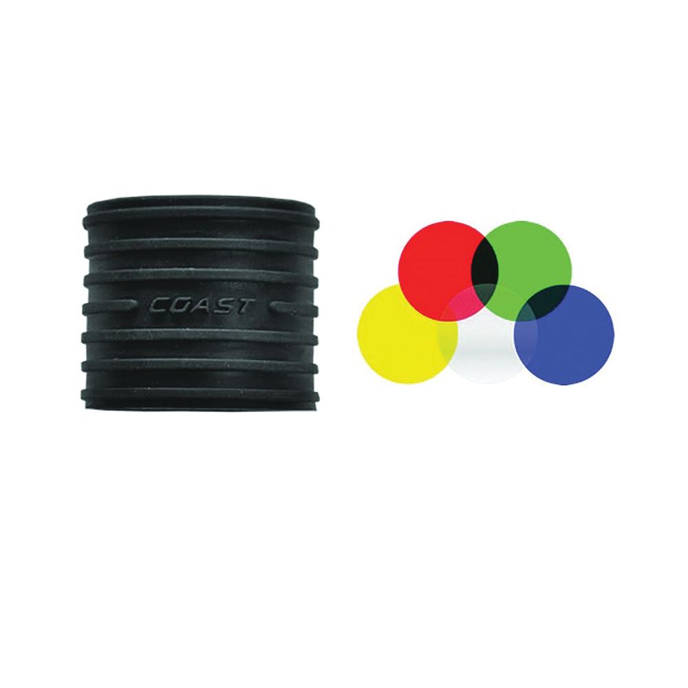 Picture of Coast 20186 Lens Filter Kit, Flashlight, Rubber Bezel
