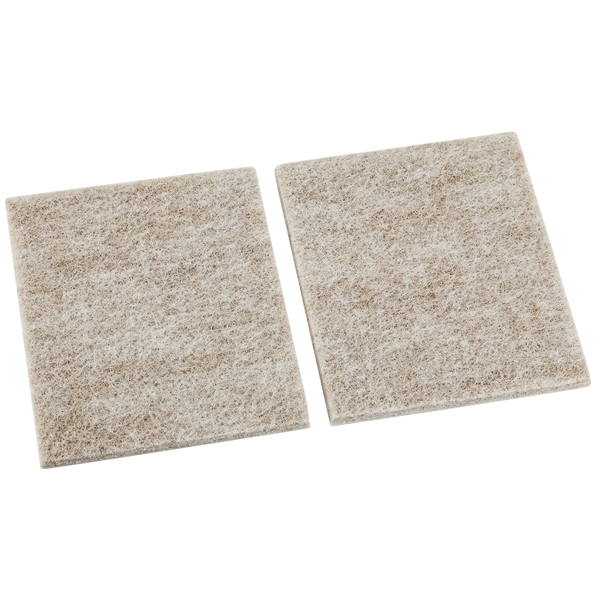 Picture of National Hardware V1719 Series N237-131 Protective Pad, Felt Cloth, 4 in L, 3-1/2 in W, Square