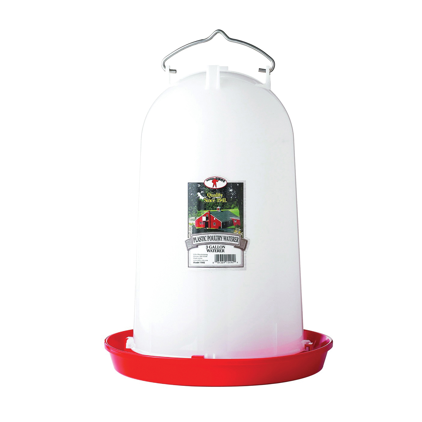 Picture of Little Giant 7906 Poultry Waterer, 3 gal Capacity, Polyethylene, Red