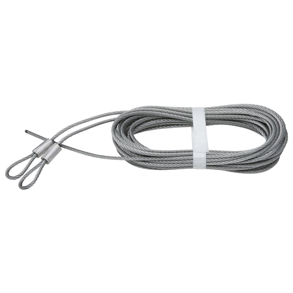 Picture of National Hardware V7617 Series N280-313 Extension Spring Lift Cable, 12 ft OAL, Galvanized Steel, Fused End