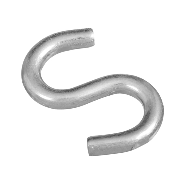 Picture of National Hardware N273-441 S-Hook, 120 lb Working Load, 0.312 in Dia Wire, Steel, Zinc