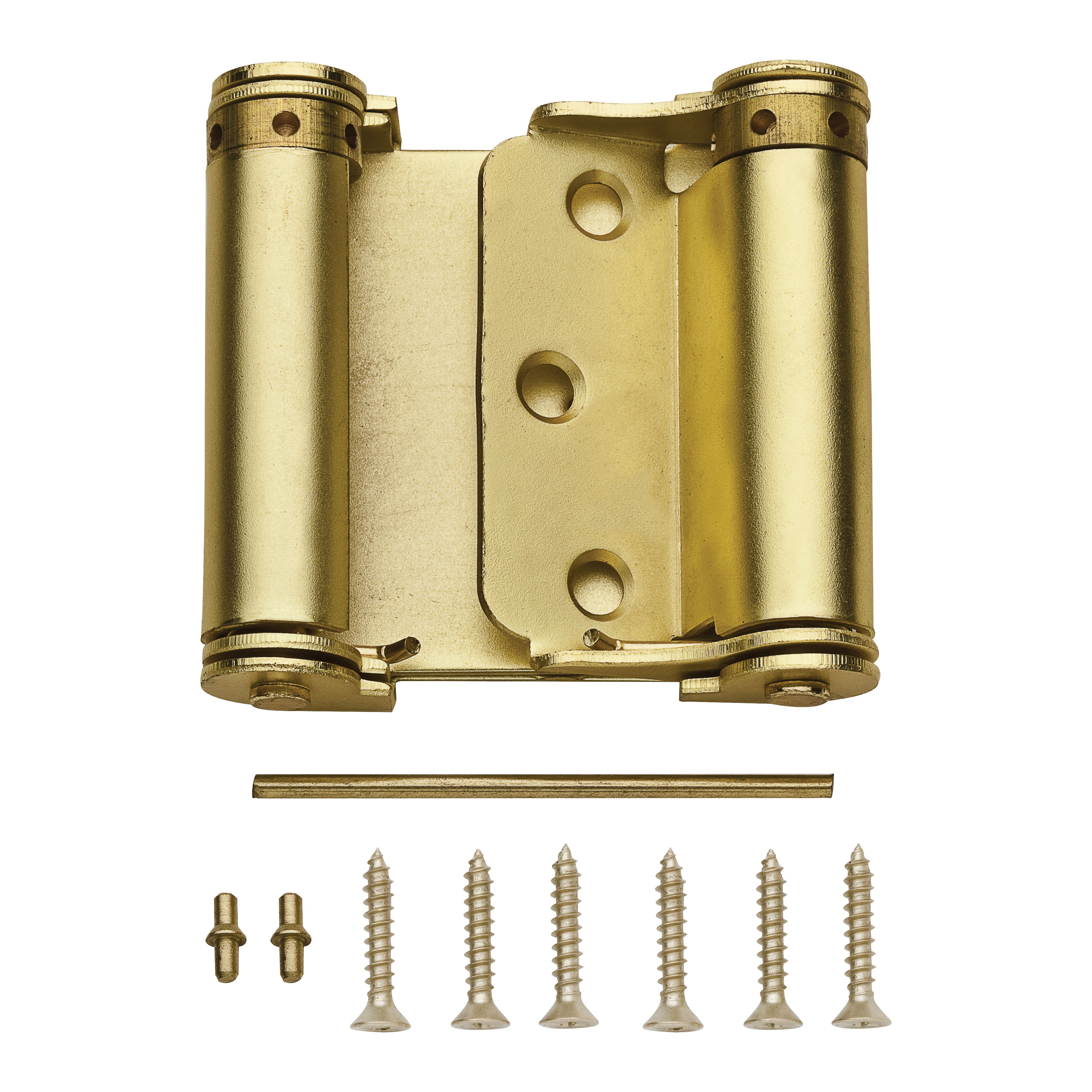 Picture of National Hardware N100-049 Spring Hinge, Steel, Satin Brass, Surface Mounting, 12 lb