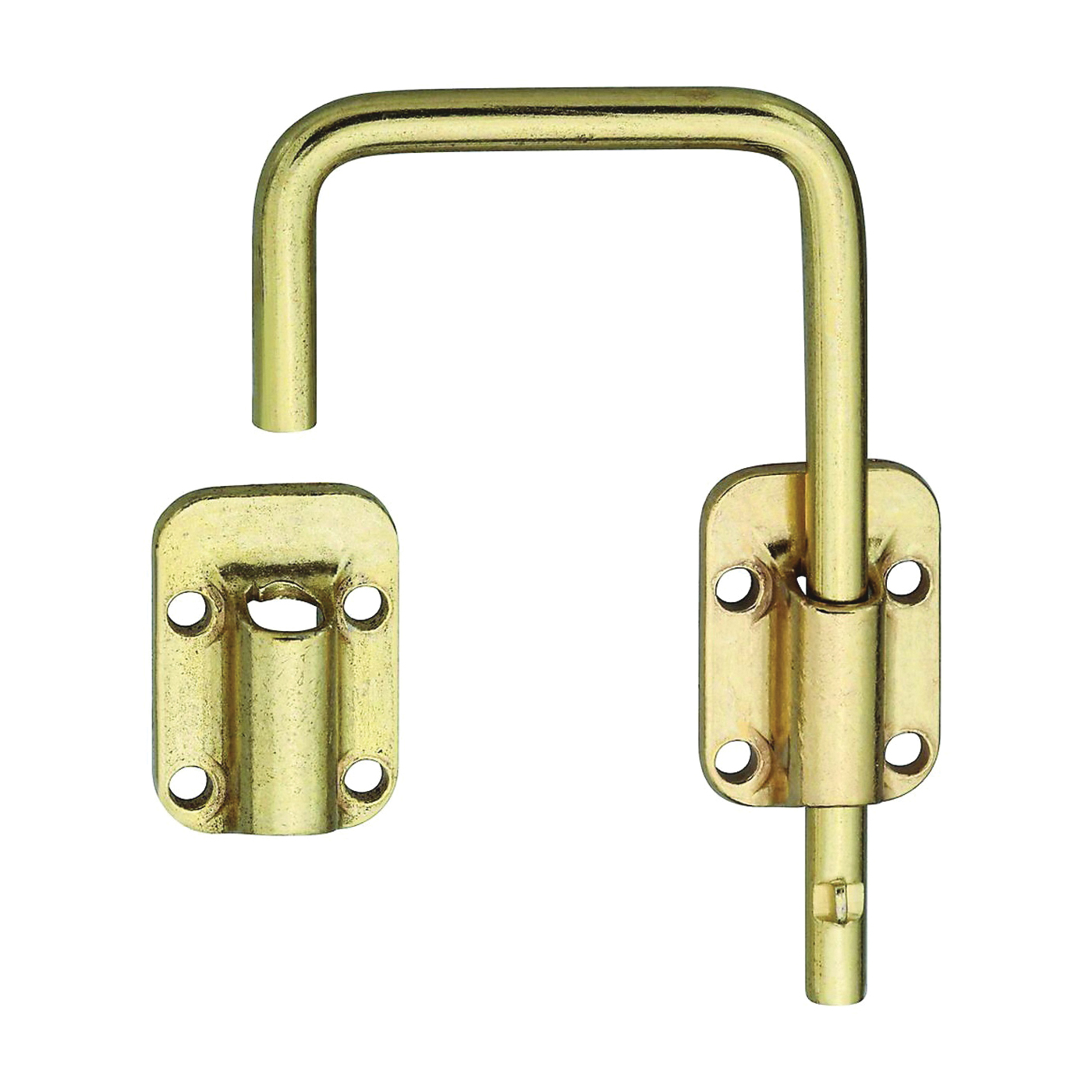 Picture of National Hardware N239-004 Sliding Door Latch, Steel, Brass
