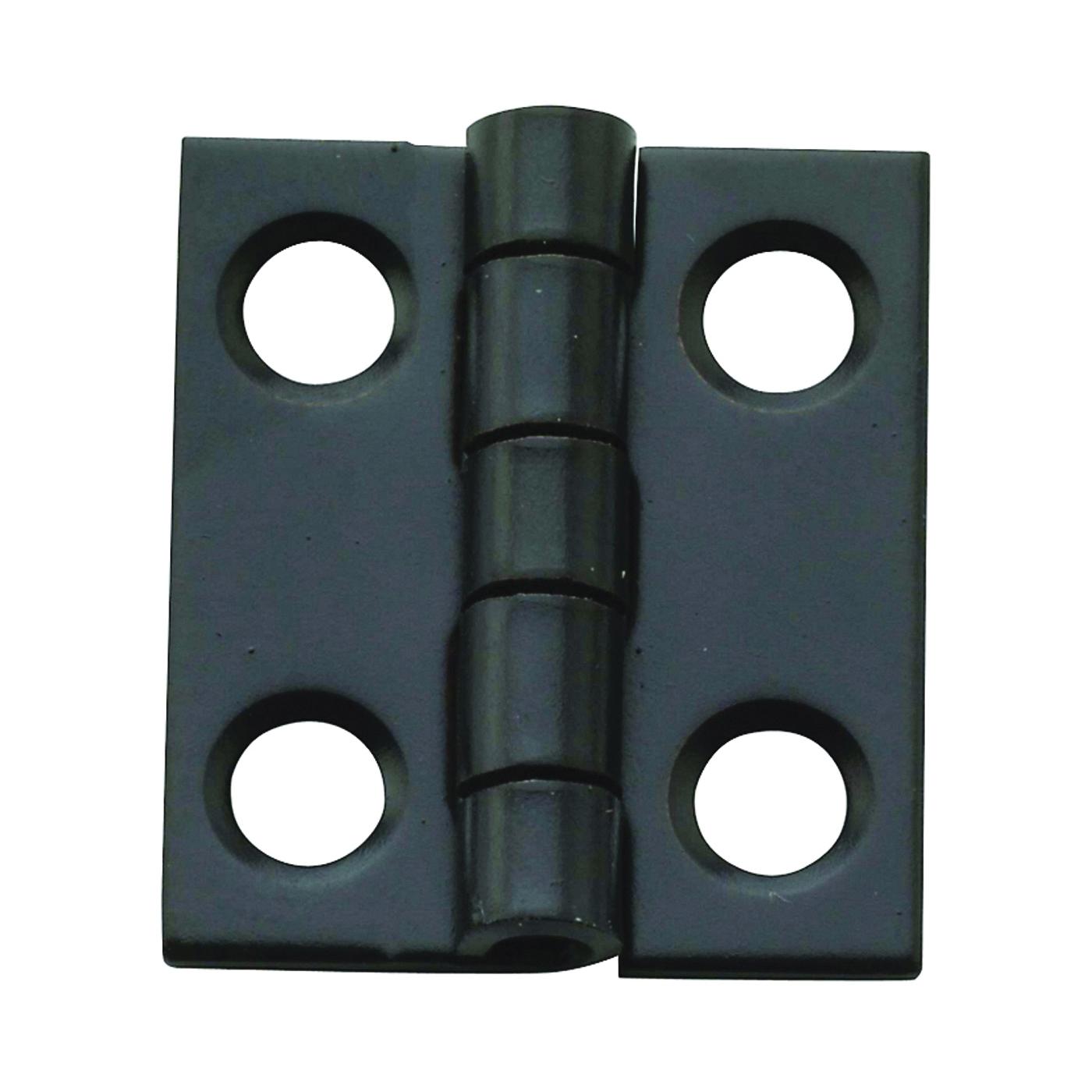 Picture of National Hardware N211-018 Decorative Narrow Hinge, 3/4 in H Door Leaf, 1/32 in Thick Door Leaf, Steel