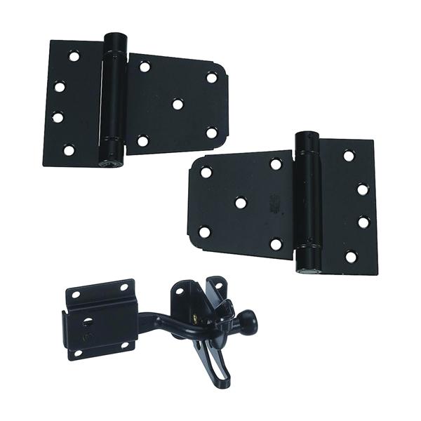 Picture of National Hardware DPV879 Series N343-475 Gate Kit, Steel, Black, 1-Piece