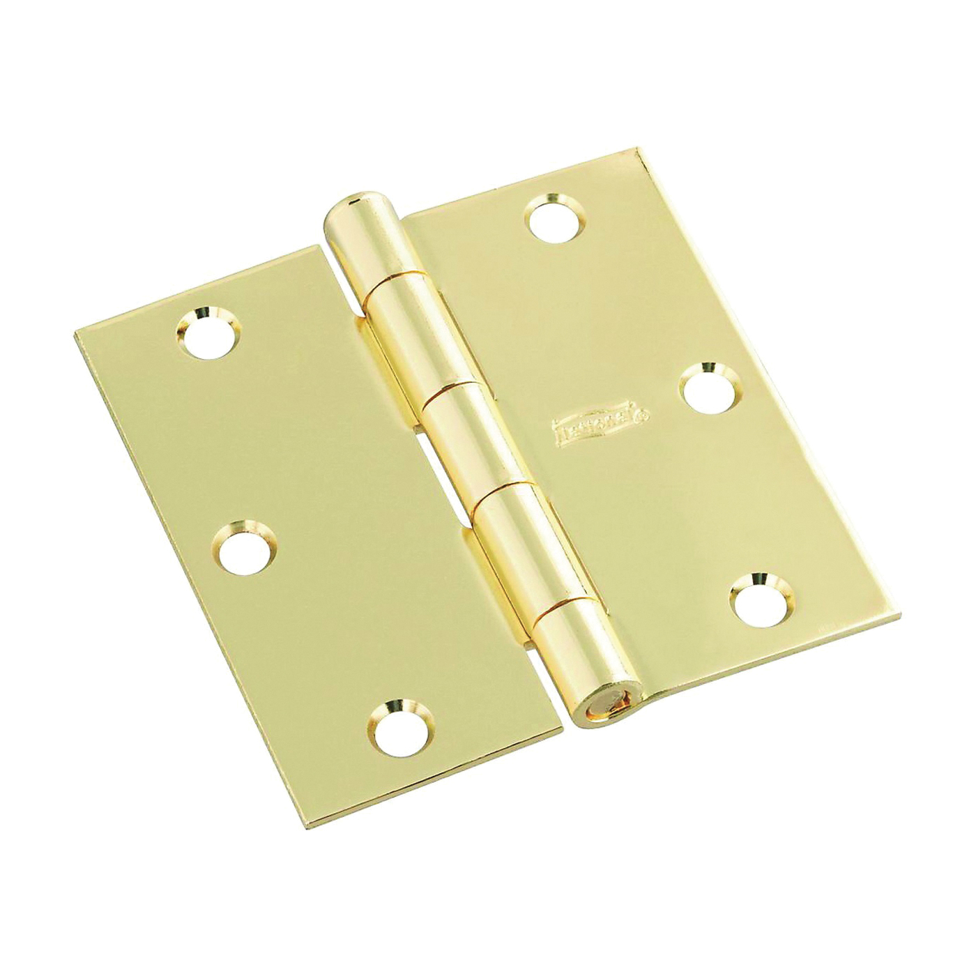 Picture of National Hardware N830-212 Door Hinge, Cold Rolled Steel, Polished Brass, Full-Mortise Mounting