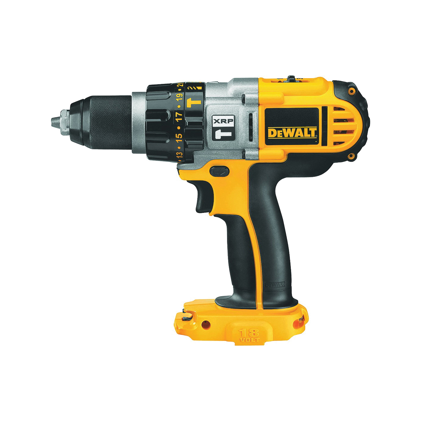 Picture of DeWALT DCD950B Hammer Drill/Driver, Bare Tool, 18 V Battery, 2.4 Ah, 1/2 in Chuck, Ratcheting Chuck