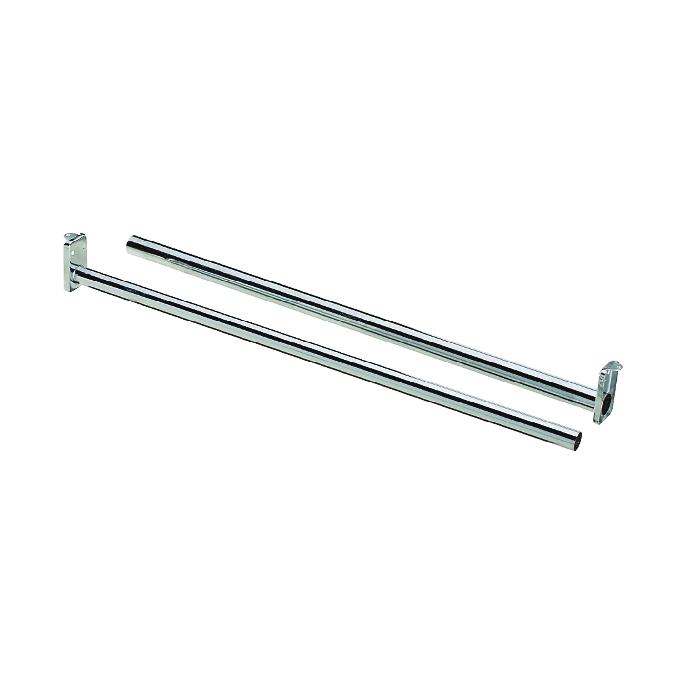Picture of National Hardware DPV209 Series N338-301 Closet Rod, 18 to 30 in L, Steel, Bright