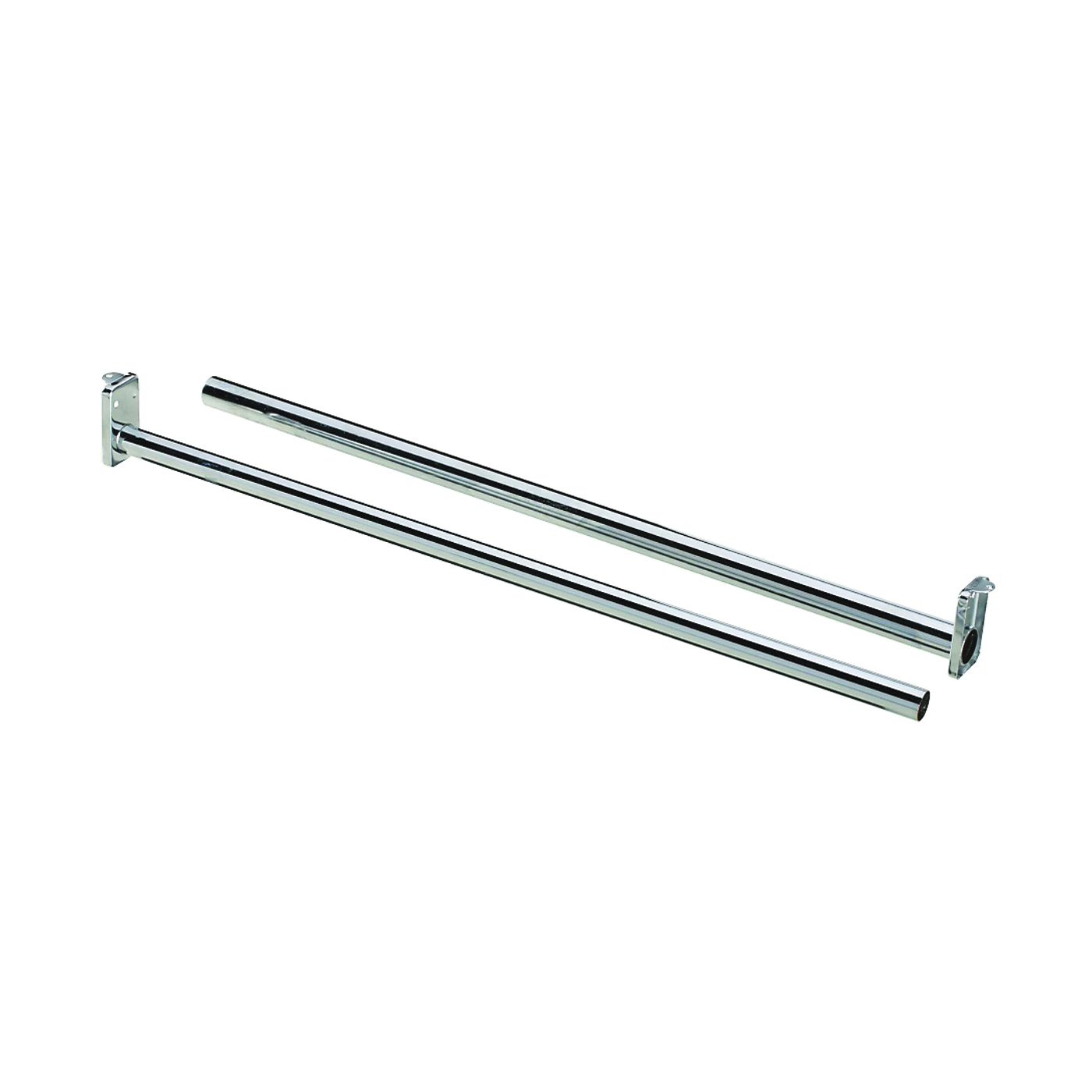 Picture of National Hardware DPV209 Series N338319 Closet Rod, 30 to 48 in L, Steel, Bright