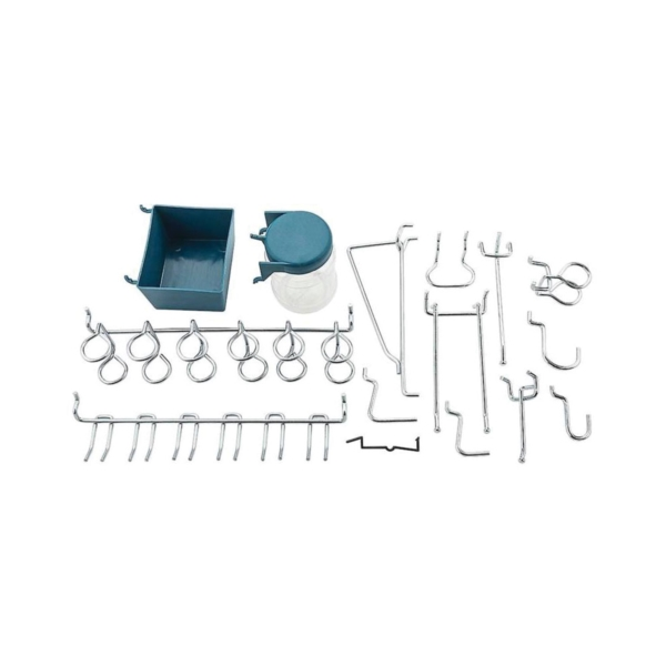 Picture of National Hardware N112-058 Peg Hook Assortment, 1/8, 1/4 in Opening, Steel, Zinc