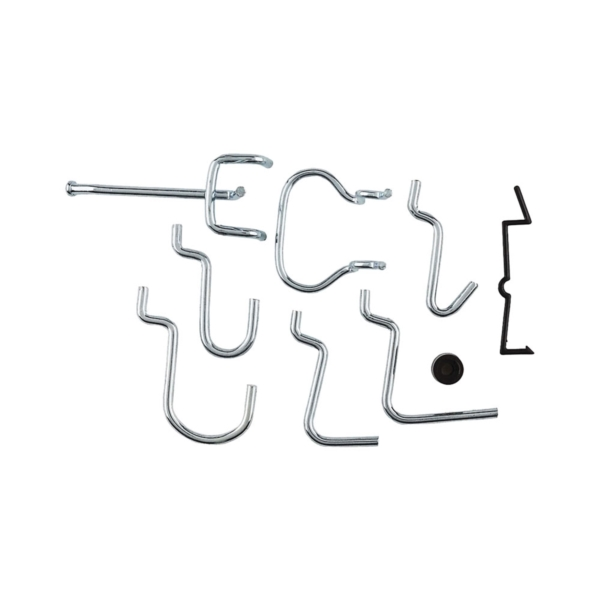 Picture of National Hardware N112-060 Peg Hook Assortment, 1/8, 1/4 in Opening, Steel, Zinc