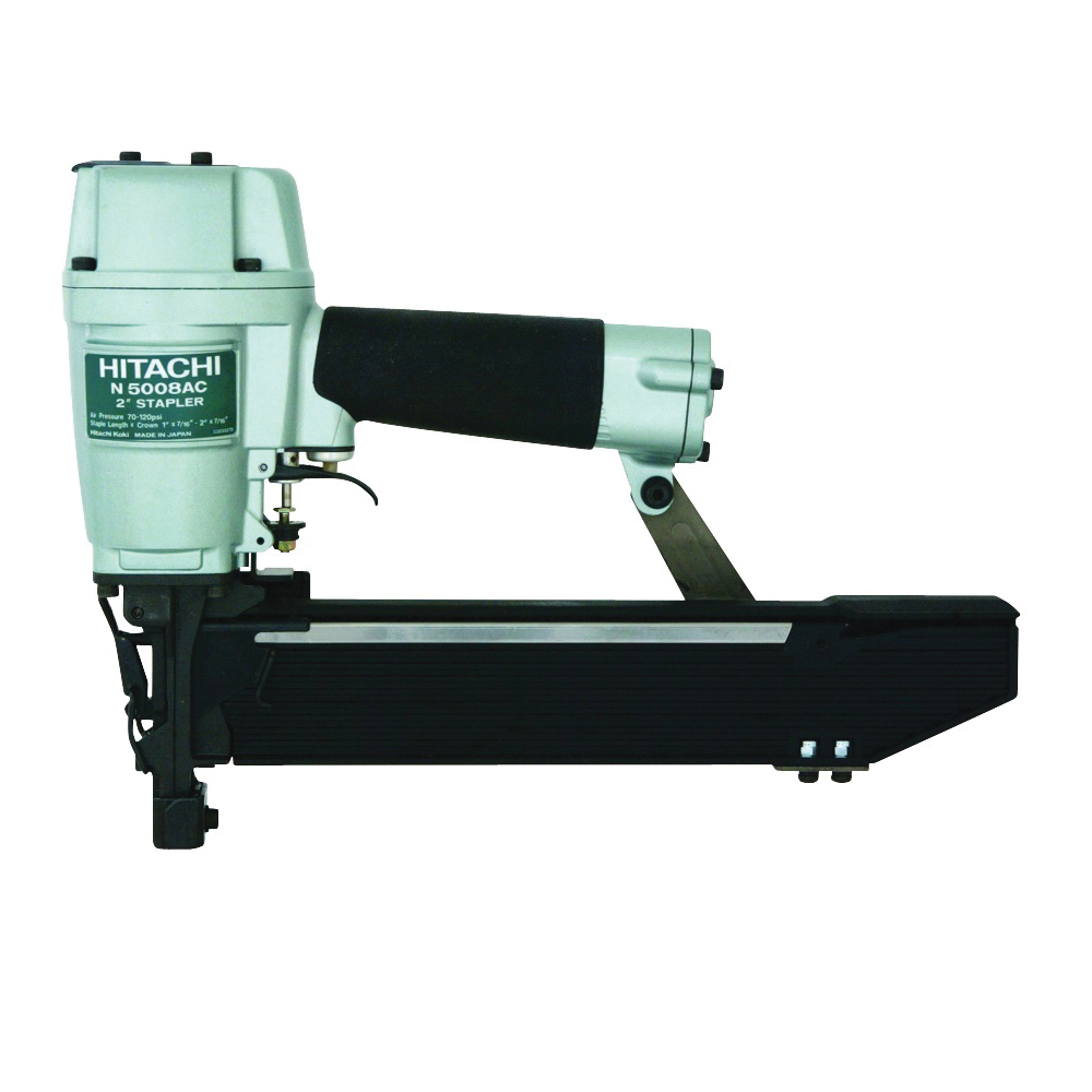 Picture of Metabo HPT N5008AC2 Construction Stapler, 7/16 in W Crown, 1 to 2 in L Leg, Standard Crown Staple, 150 Magazine
