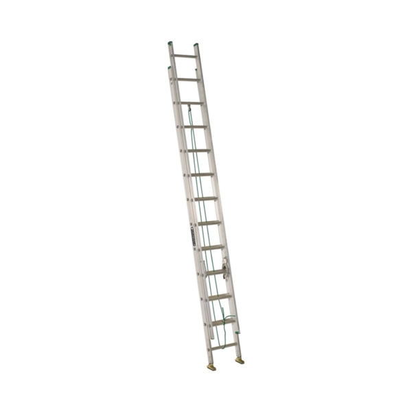 Picture of Louisville AE4224PG Extension Ladder, 286 in H Reach, 225 lb, 24-Step, 1-1/2 in D Step, Aluminum