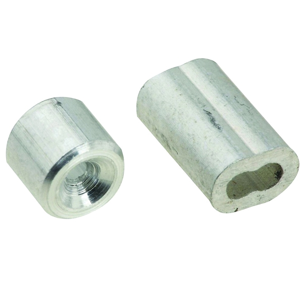 Picture of National Hardware V3231 Series N283-846 Ferrule and Stop, 1/16 in Dia Cable, Aluminum
