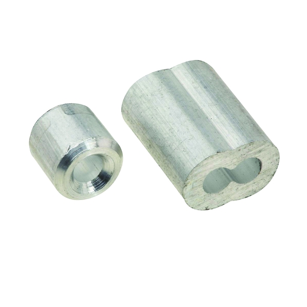 Picture of National Hardware V3231 Series N283-853 Ferrule and Stop, 1/8 in Dia Cable, Aluminum