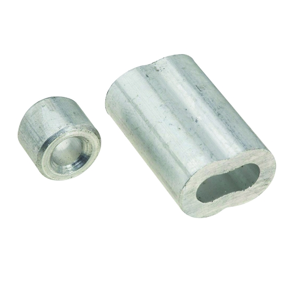 Picture of National Hardware V3231 Series N283-861 Ferrule and Stop, 3/16 in Dia Cable, Aluminum