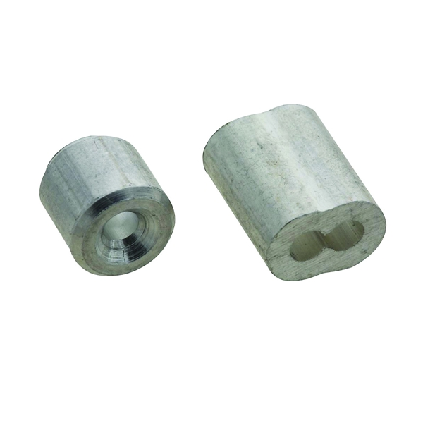 Picture of National Hardware V3231 Series N283-887 Ferrule and Stop, 3/32 in Dia Cable, Aluminum