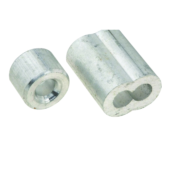 Picture of National Hardware V3231 Series N283-895 Ferrule and Stop, 5/32 in Dia Cable, Aluminum