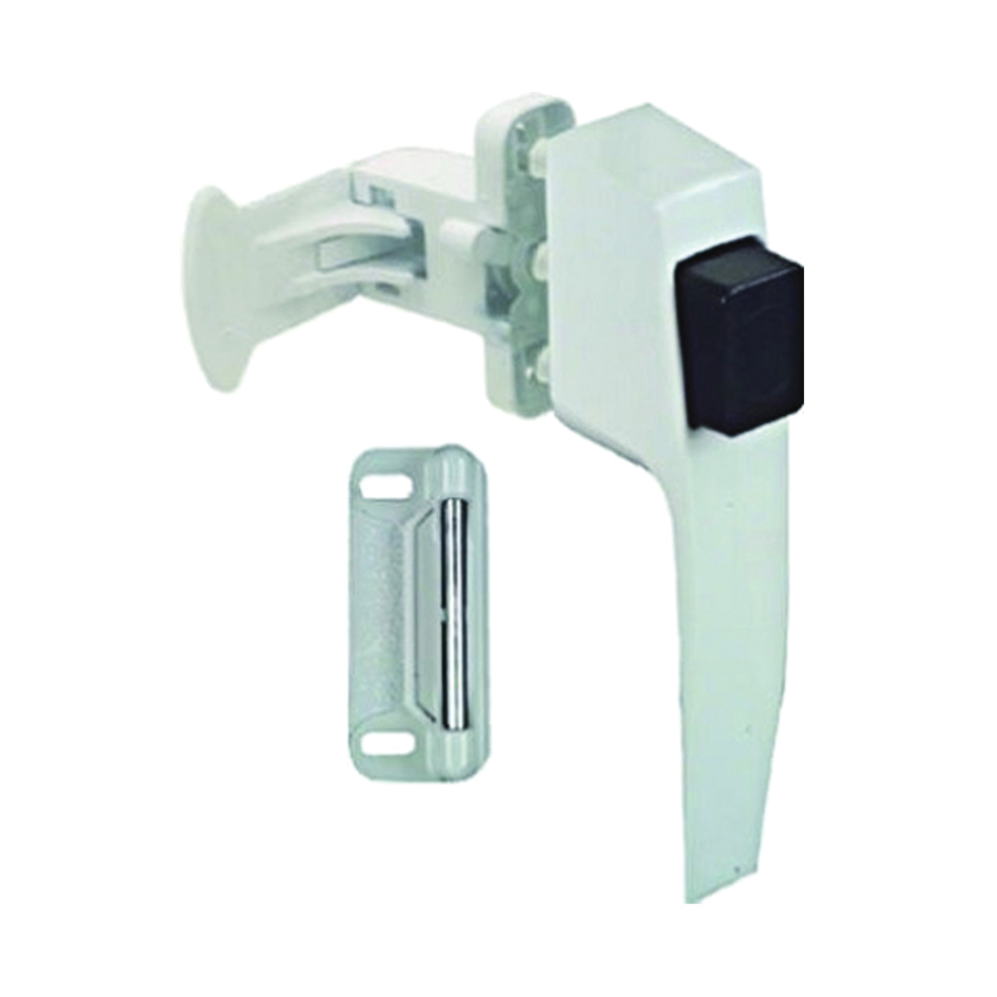 Picture of National Hardware V1326 Series N213-165 Pushbutton Latch, Zinc, 5/8 to 2 in Thick Door