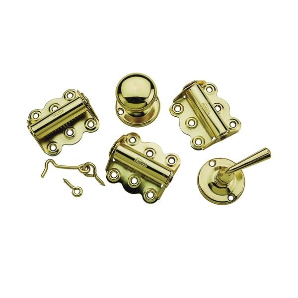 Picture of National Hardware V1771 Series N100-018 Screen Door Kit, Steel/Zinc, Brass