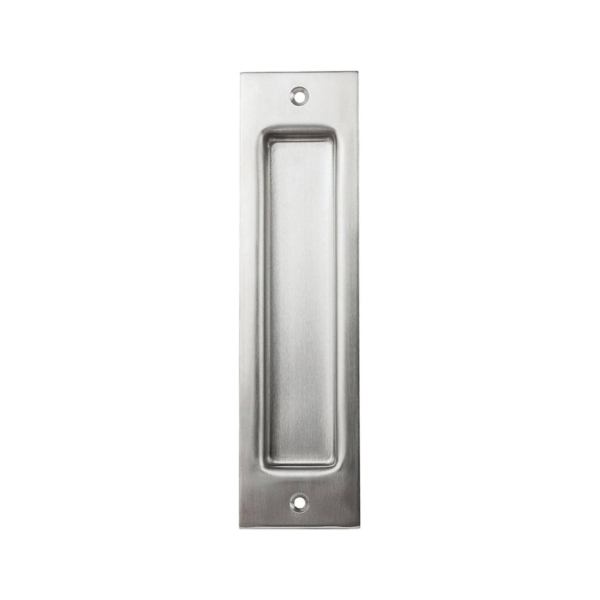 Picture of National Hardware N187-030 Flush Pull, 2-1/16 in W, 1/2 in D, 8 in H, Steel, Stainless Steel