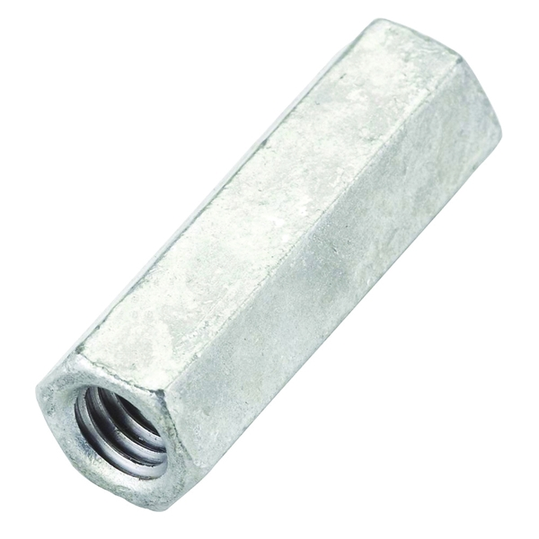 Picture of National Hardware 4013BC Series N182-684 Coupling Nut, UNC Thread, 3/8-16 in Thread, Galvanized